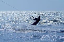 Profilo del surfista del cervo volante Fotografia Stock