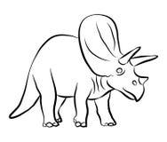 Profilo del triceratopo dei dinosauri Fotografie Stock