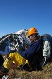 Profilo dell'alpinista - Romania Fotografia Stock