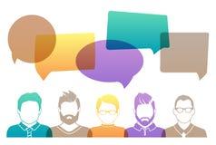 Profilo dell'avatar degli uomini illustrazione di stock