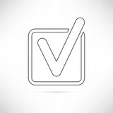 Profilo dell'icona di casella di controllo Immagine Stock