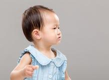 Profilo della bambina Fotografia Stock