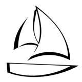 Profilo della barca a vela illustrazione vettoriale