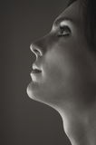 Profilo della bella donna fotografia stock