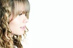 Profilo della bella ragazza bionda fotografie stock