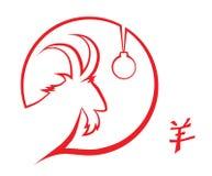 Profilo della capra e del geroglifico Immagini Stock Libere da Diritti