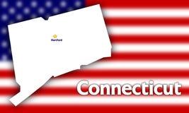 Profilo della condizione del Connecticut Fotografie Stock