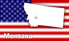 Profilo della condizione del Montana Immagini Stock Libere da Diritti