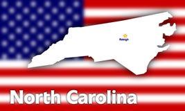 Profilo della condizione del North Carolina illustrazione di stock