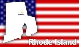 Profilo della condizione del Rhode Island Fotografie Stock