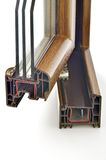 Profilo della finestra del PVC Fotografia Stock