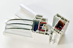 Profilo della finestra del PVC Immagine Stock
