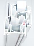 Profilo della finestra del PVC Fotografie Stock Libere da Diritti