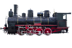Profilo della locomotiva d'annata Fotografia Stock