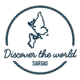 Profilo della mappa di Siargao L'annata scopre il mondo Immagine Stock