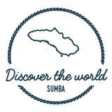 Profilo della mappa di Sumba L'annata scopre il mondo Fotografie Stock
