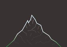 Profilo della montagna fotografia stock