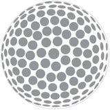 Profilo della sfera di golf Immagini Stock Libere da Diritti