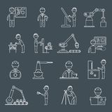 Profilo delle icone di ingegneria illustrazione di stock