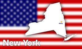 Profilo dello Stato di New York Fotografie Stock