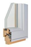 Profilo di alluminio/di legno della finestra Fotografia Stock Libera da Diritti