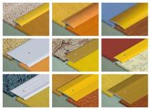 Profilo di alluminio per i rivestimenti per pavimenti Immagine Stock Libera da Diritti