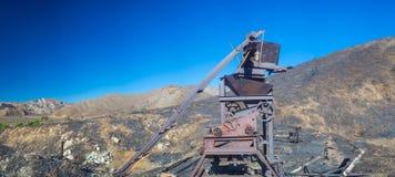Profilo di attrezzatura mineraria Immagini Stock Libere da Diritti
