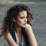 Profilo di bella ragazza Fotografie Stock Libere da Diritti