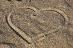 Profilo di cuore su san giallo Immagini Stock Libere da Diritti