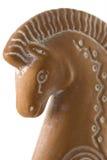 Profilo di destra del cavallo dell'argilla Fotografia Stock Libera da Diritti
