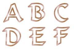 Profilo di legno 1 delle lettere maiuscole Fotografie Stock Libere da Diritti