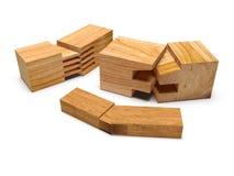 Profilo di legno segato Isolato Fotografia Stock