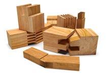 Profilo di legno segato Isolato Immagini Stock Libere da Diritti