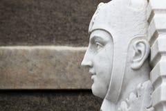 Profilo di marmo dell'uomo fotografia stock