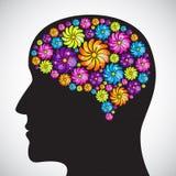 Profilo di mente Fotografia Stock