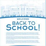 Profilo di nuovo al concetto della scuola con lo spazio della copia per testo royalty illustrazione gratis