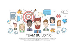 Profilo di Team Building Concept Business Person Fotografia Stock