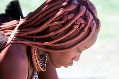 Profilo di una donna di Himba Fotografia Stock