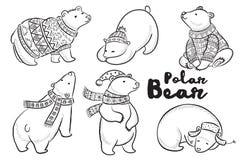 Profilo di vettore messo con gli orsi polari illustrazione vettoriale