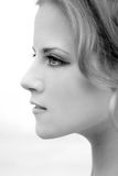 Profilo facciale di una ragazza Immagini Stock