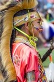 Profilo laterale del ragazzo del nativo americano Fotografia Stock