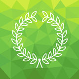 Profilo Laurel Wreath su fondo geometrico per i distintivi, le insegne, il logos ed i monogrammi Immagini Stock