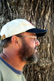 Profilo maggiore barbuto Fotografie Stock