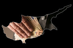 Il nero dei fondi della Cipro Fotografia Stock Libera da Diritti