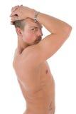 Profilo nudo dell'uomo Fotografie Stock