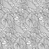 Profilo ondulato floreale Immagine Stock