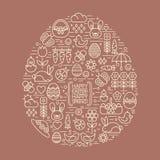 Profilo piano pasqua ed icone della molla Immagini Stock Libere da Diritti