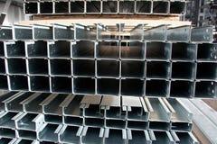 Profilo rivestito dello zinco Fotografie Stock Libere da Diritti