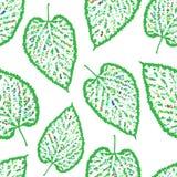 Profilo senza cuciture del modello delle foglie Fotografia Stock