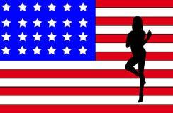 Profilo sexy delle donne degli S.U.A. royalty illustrazione gratis